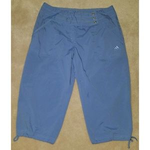 Adidas Purple Capri Pants Medium Athletic Cropped